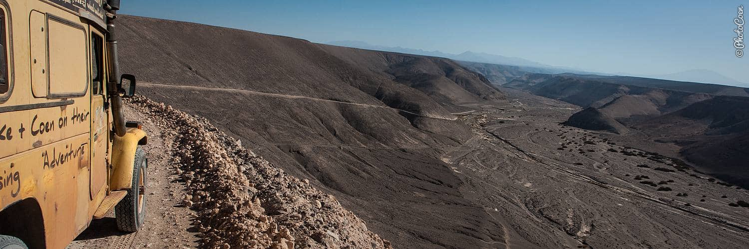 Overland travel on Chile's altiplano