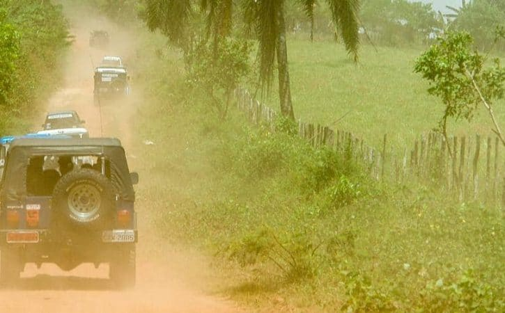 Overland off road; a car charity rally in Brazil