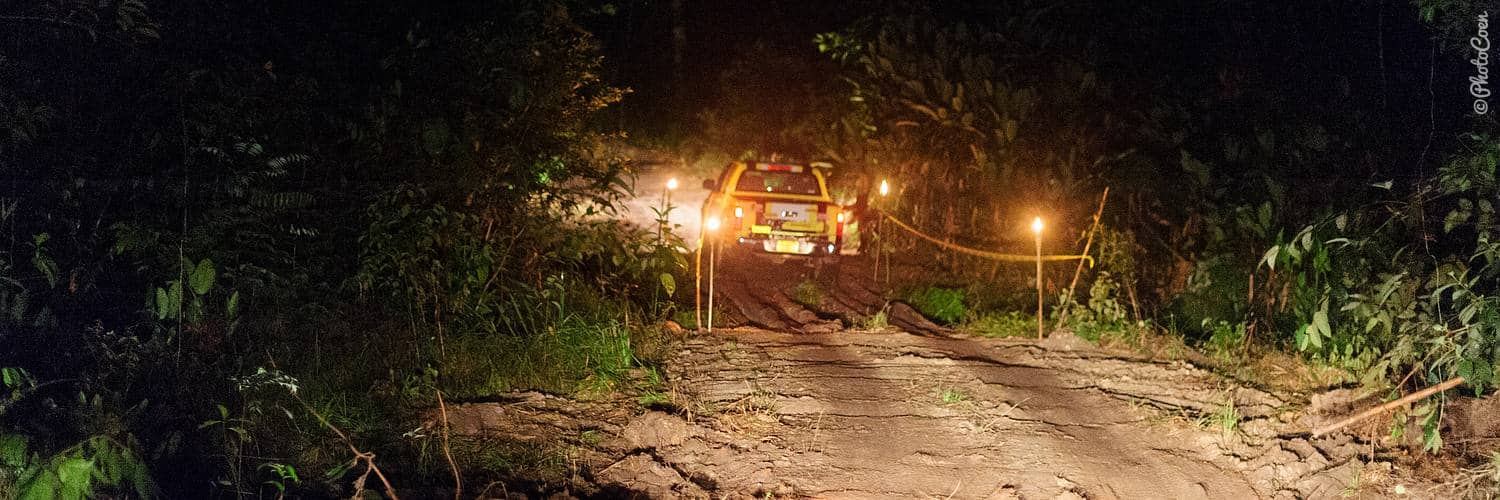 Overland off road; a car rally in Suriname
