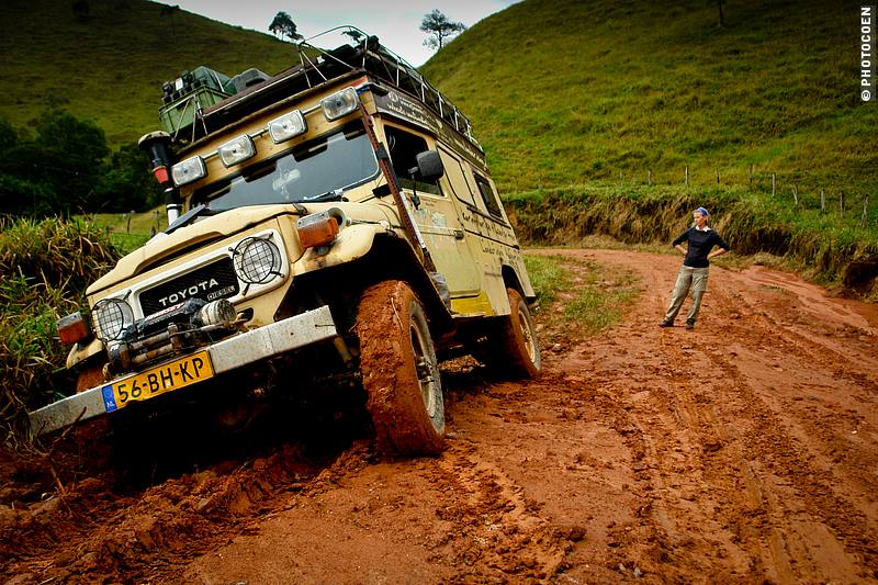 Road Trips in Brazil - stuck in the mud