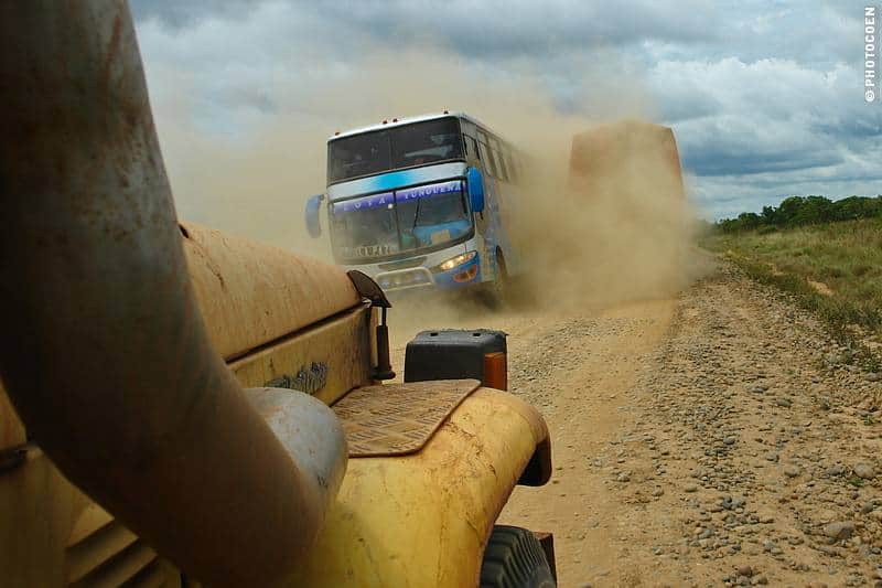 Driving in Bolivia - Dust