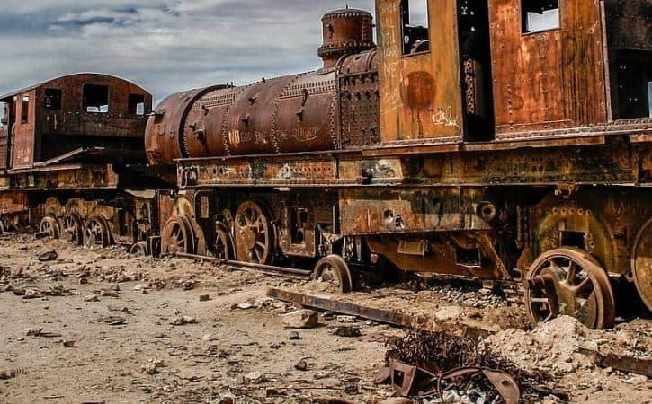 The Train Cemetery Uyuni, Bolivia (©Coen Wubbels)
