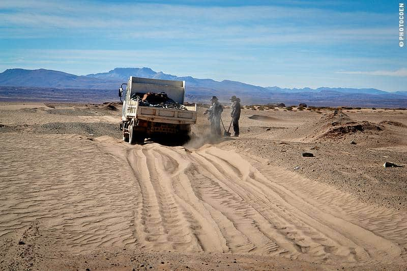sand road in south bolivia