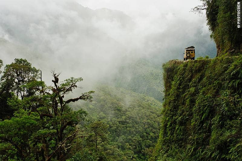 Driving the Death Road in Bolivia