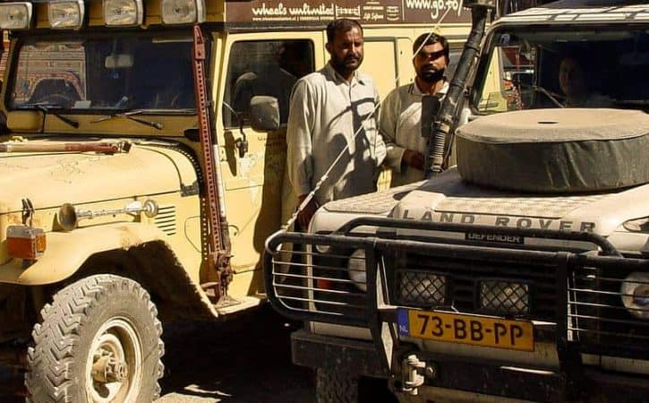 Overland vehicles on the Iran-Pakistan border