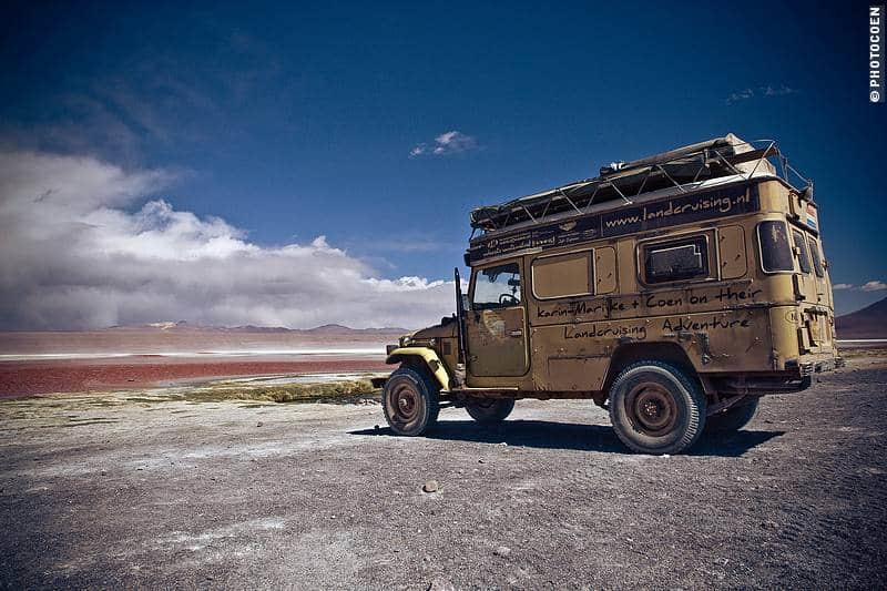camping in Bolivia - Laguna Colorada