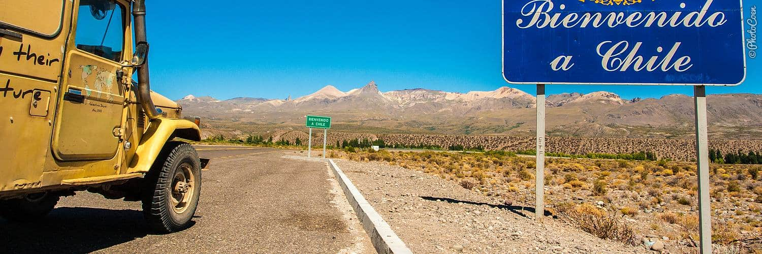 Overland trip in Chile, the Andes Mountains