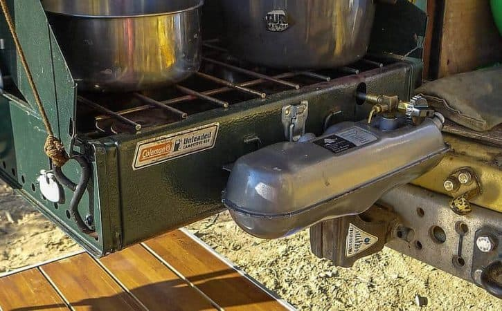 Overland cooking equipment: the Coleman stove