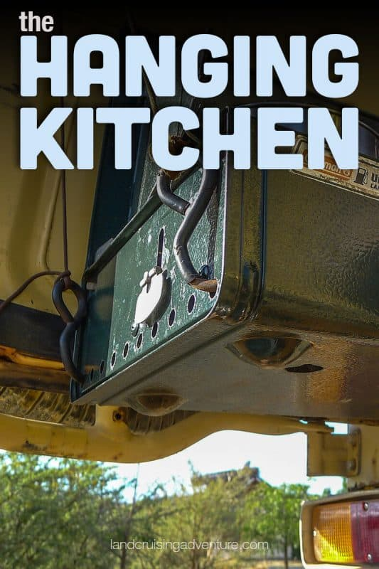 Cooking on the road, hanging kitchen (©Coen Wubbels)