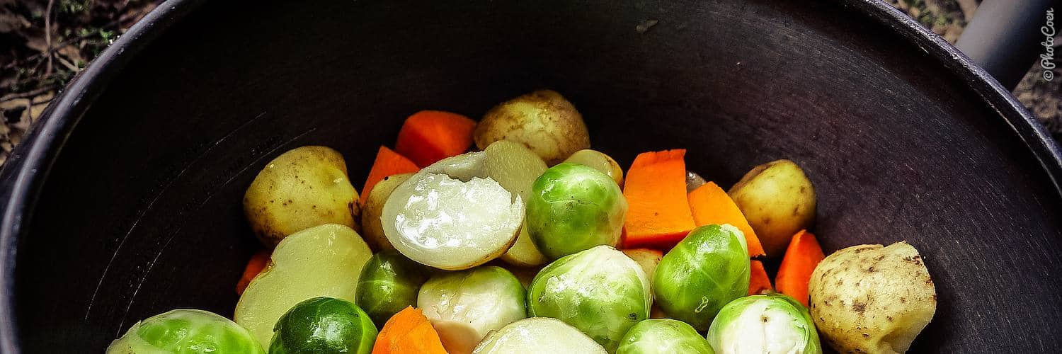 overland cooking, using the pressure cooker