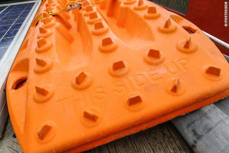 Recovery gear; here, two orange Maxtrax sandladders