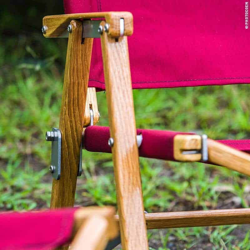 detail of the beauty and simplicity of Kermit camping chairs
