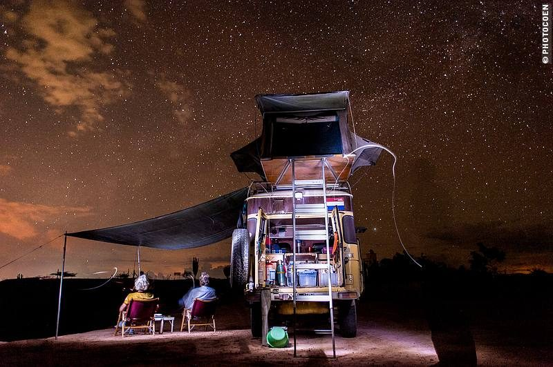 Star gazing while sitting in comfortable Kermit chairs