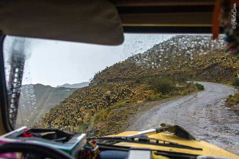 road trip in Colombia - driving to Quibdó in rain