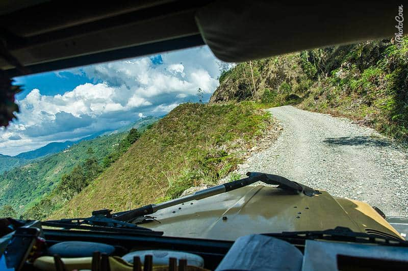 Driving in Colombia - mountain views