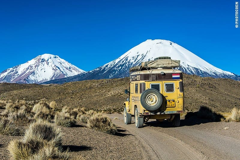 Road trip in Chile, driving to volcanoes.