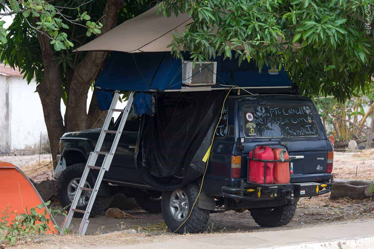 Venezuelans like an aircon in their tent (gasoline is free in this country) & Why Traveling with a Rooftop Tent? And Which One? (part 1 ...