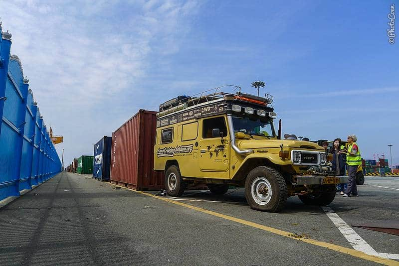 Shipping the Land Cruiser from Suriname to South Korea