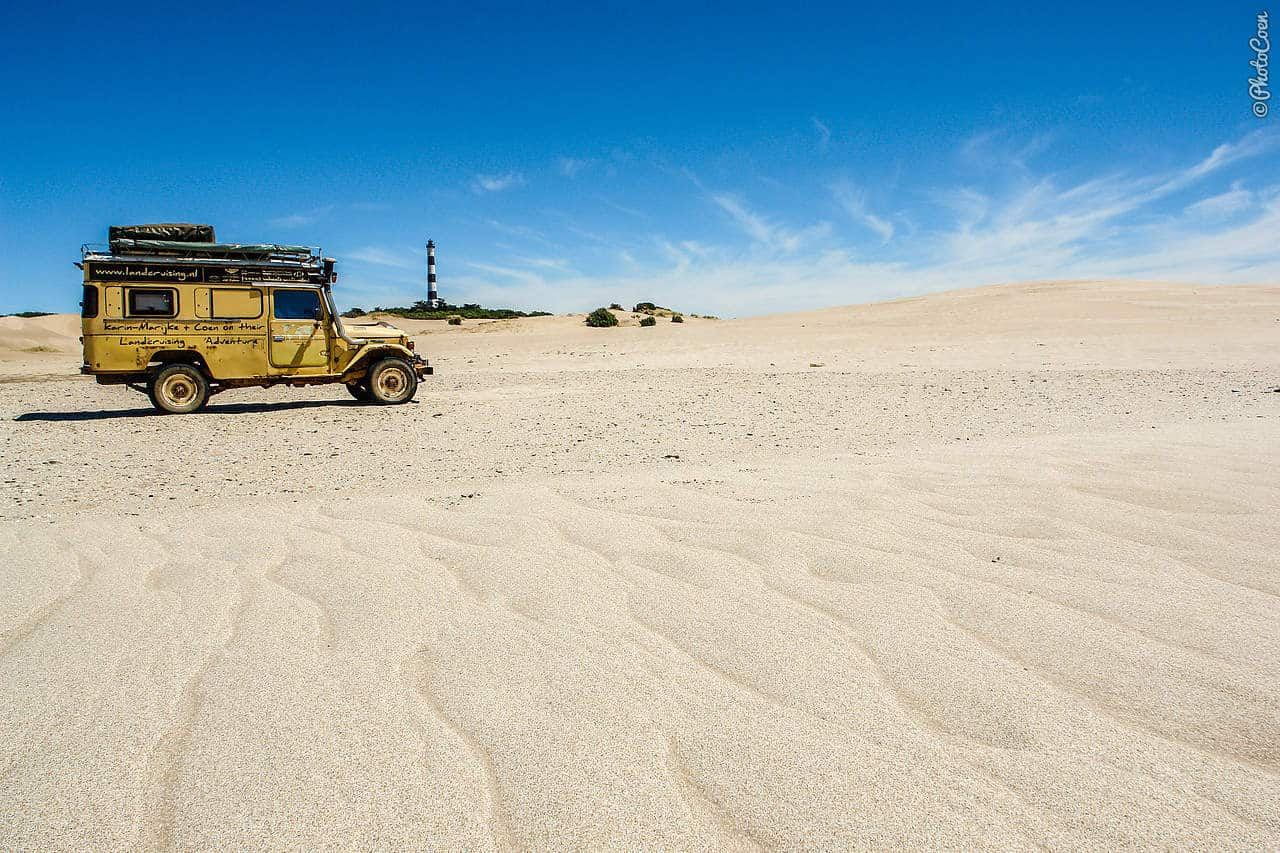 Overland camping in Argentina - on the beach