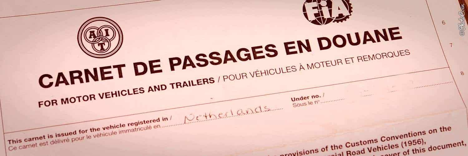 Overland car document; the Carnet de Passage