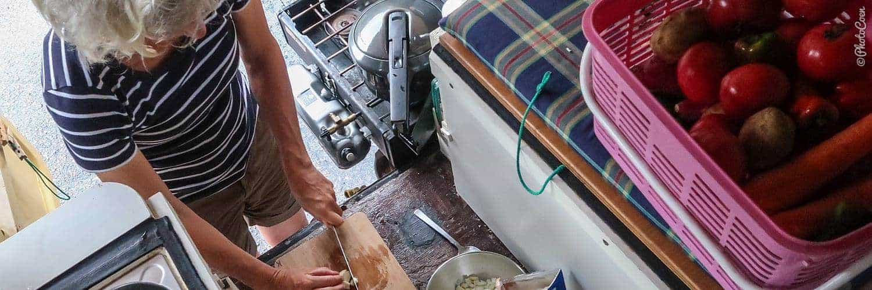 Overland cooking: preparing a masala gobi