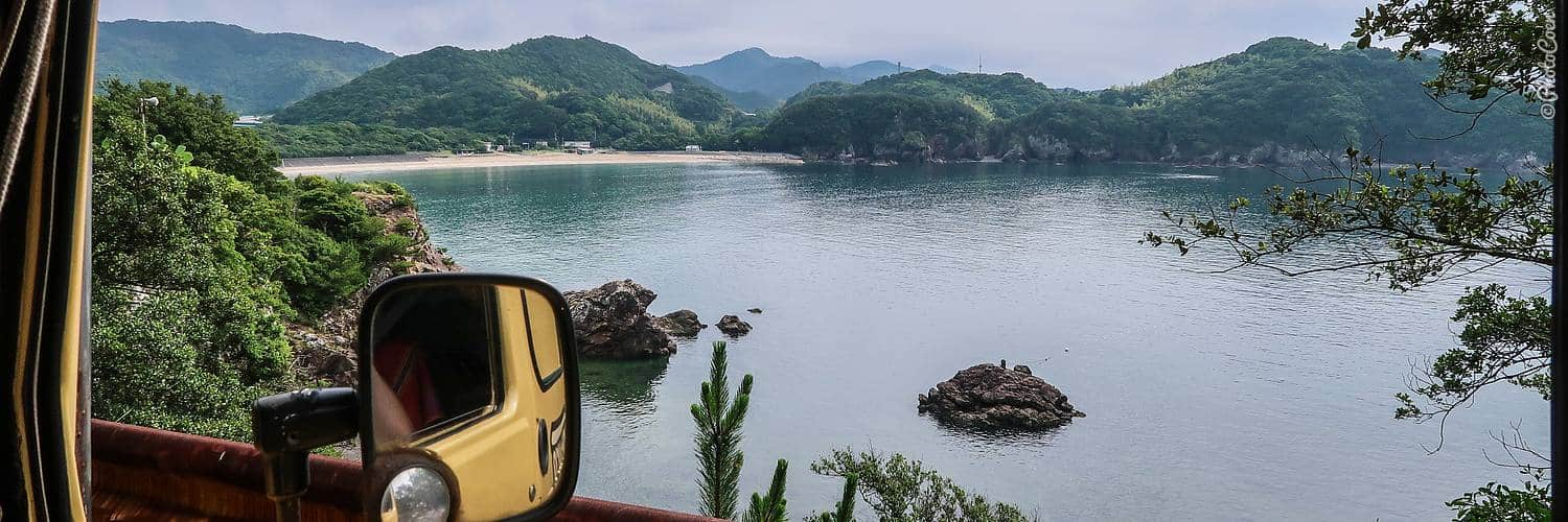 Overland trip in Japan; driving on Shikoku