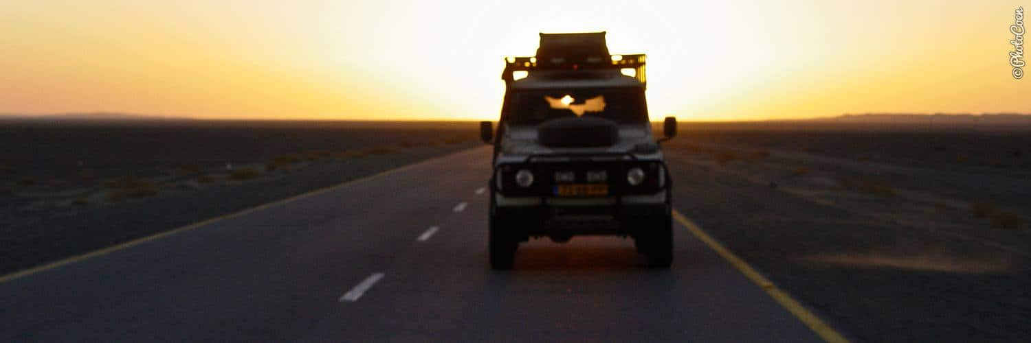4WD overland vehicle: a Land Rover