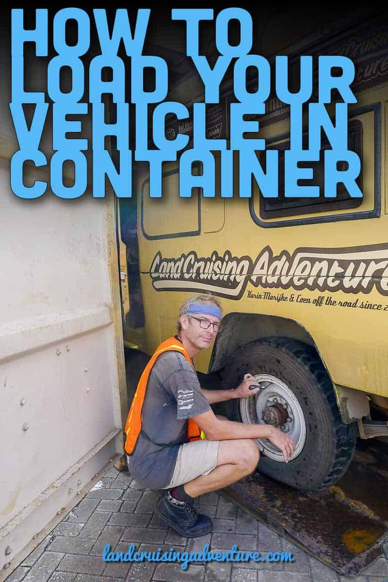 Container Loading of overland vehicle