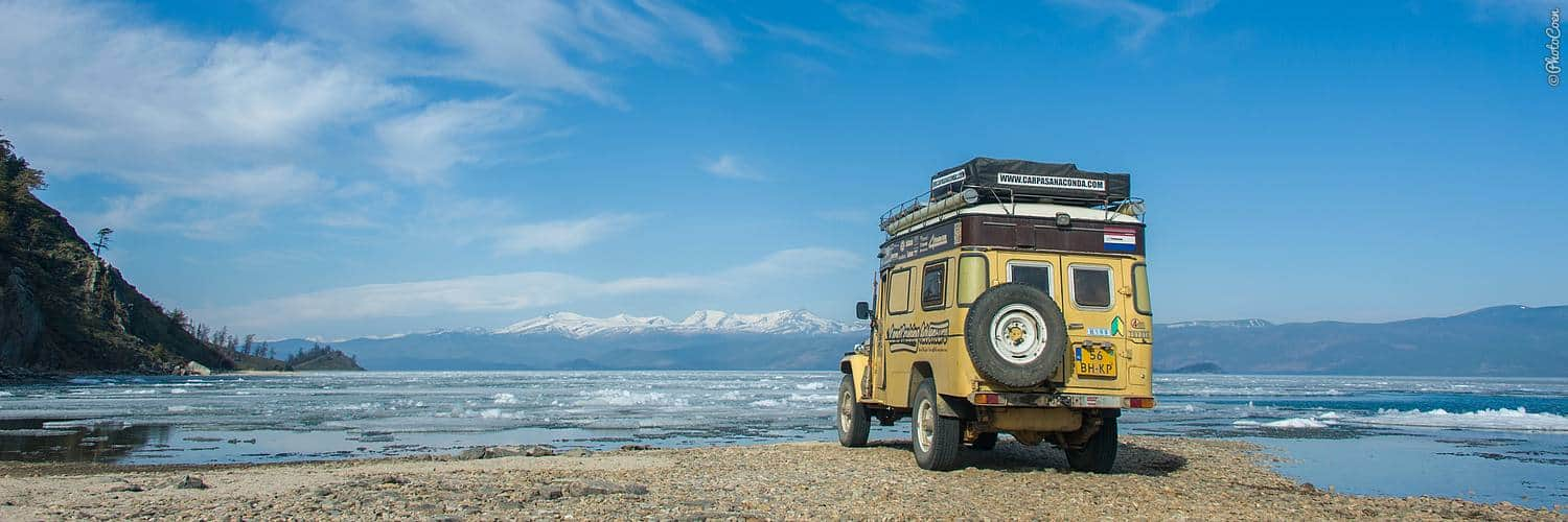 Russia Overland Travel - camping along Lake Baikal
