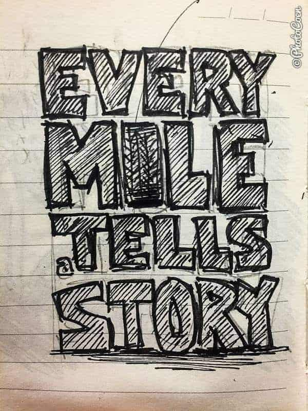 Every Mile Tells a Story T-shirt