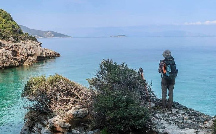 Hiking in Turkey, a view of the Ceramic Gulf