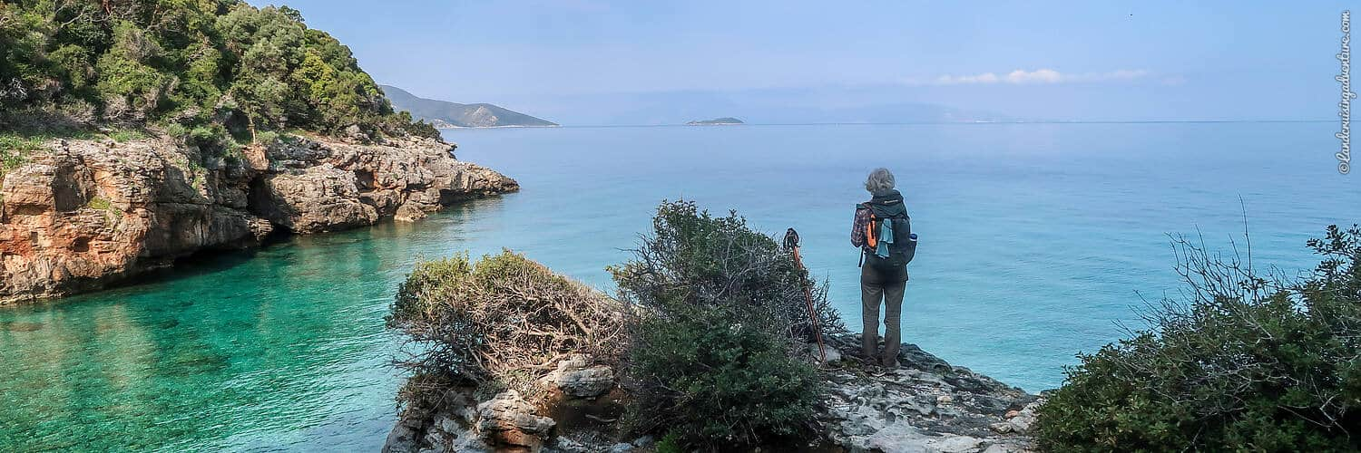 Hiking adventure, a view of the Ceramic Gulf