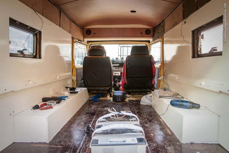 The Interior of our Home on Wheels, La Paz (©Coen Wubbels)