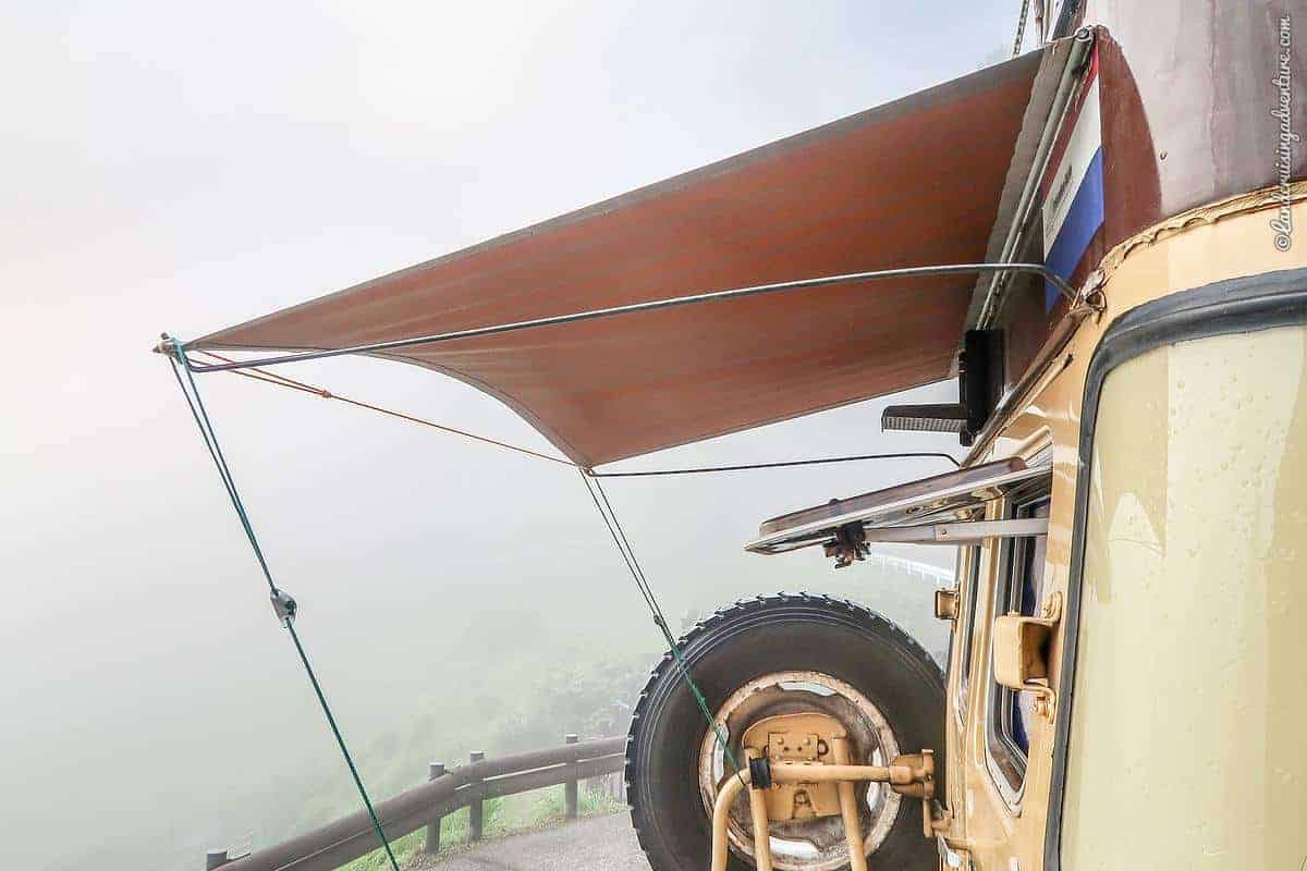DIY Awning - How to Build an Inexpensive Rear-door Car Awning