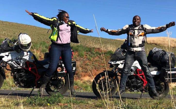 Overland travel by motorcycle