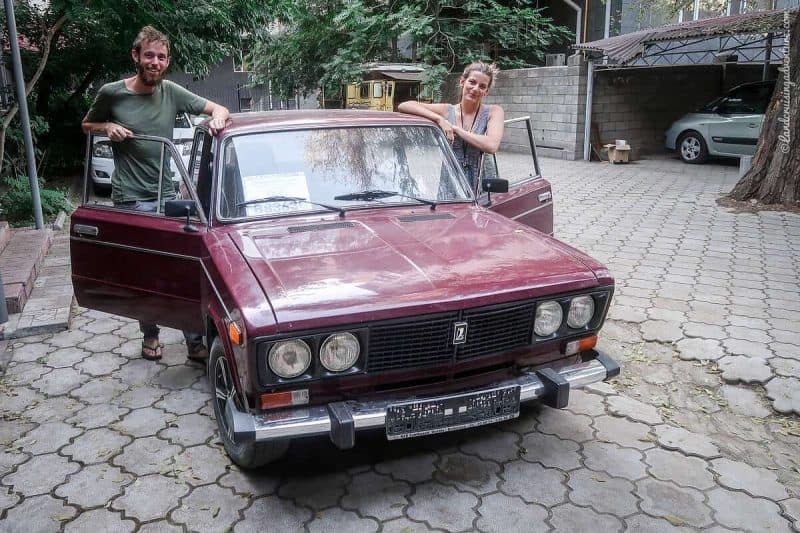 A newly-bought, old Lada (©Karin-Marijke Vis)