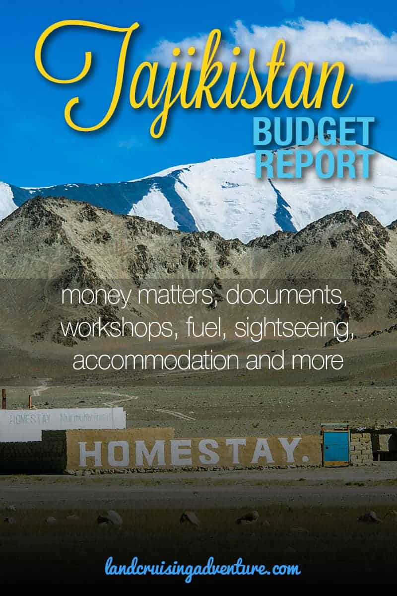 Tajikistan Travel Budget Report travel information for your road trip: money matters, documents, workshops, fuel, accommodation & camping, sightseeing, and more