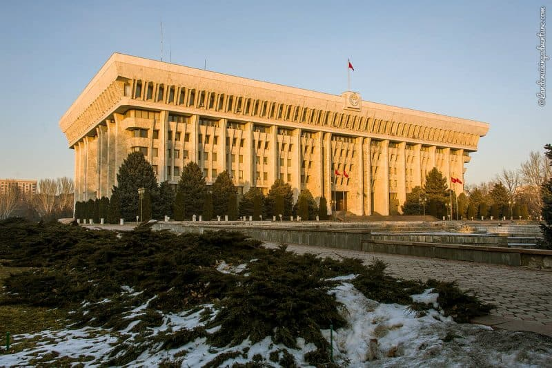 Place to see in Bishkek: Kyrgyzstan's White House