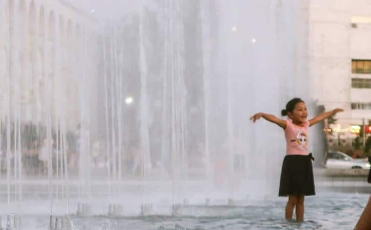 Visit Bishkek's fountains on Ala-Too Square