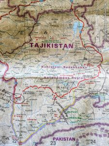 Reise Knowhow Road Map of Tajikistan (©Coen Wubbels)