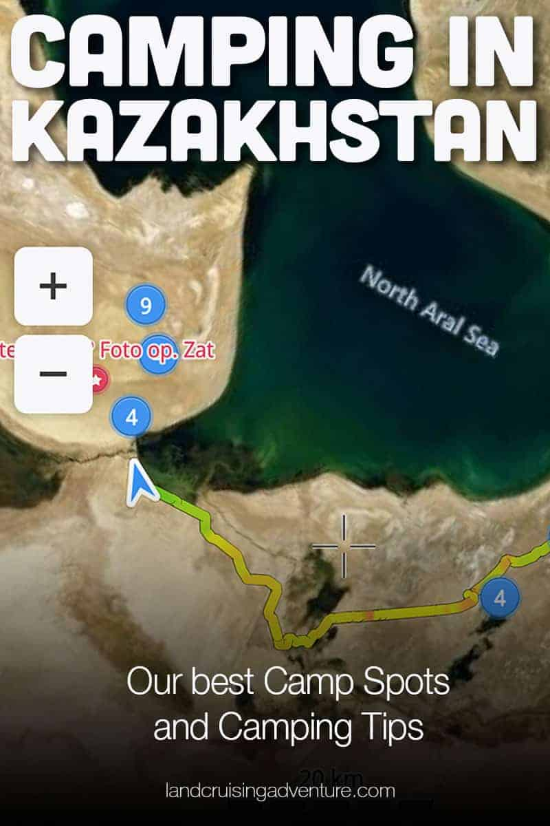 Wild Camping in Kazakhstan - mapping the dots