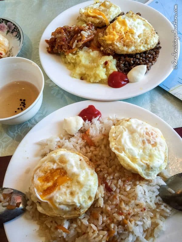 Rice and eggs in Kazakhstan
