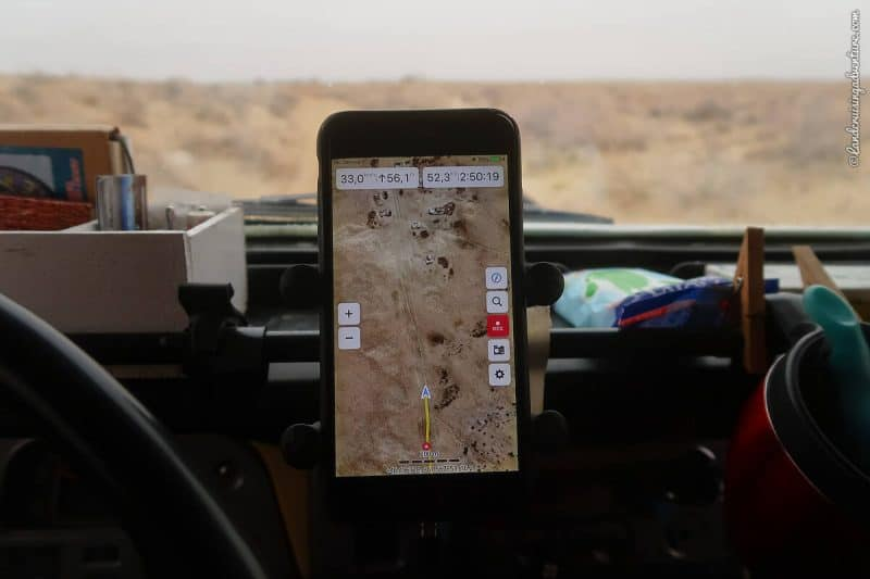 iPhone with maps in Kazakhstan