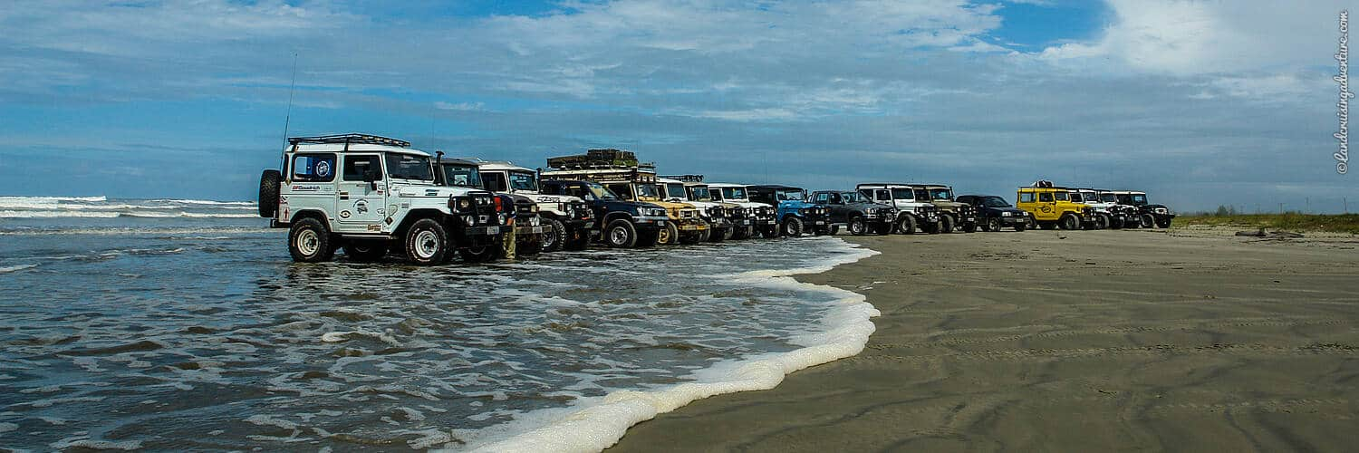 A Bandeirante line-up, beach Brazil