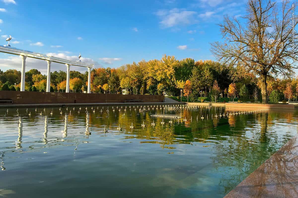 Clear sky in Tashkent, Uzbekistan in November