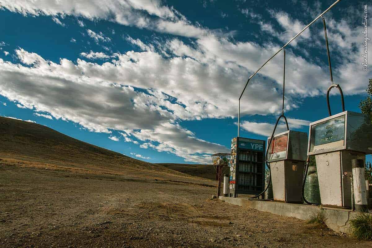 Empty Gas Station in Patagonia, Argentina