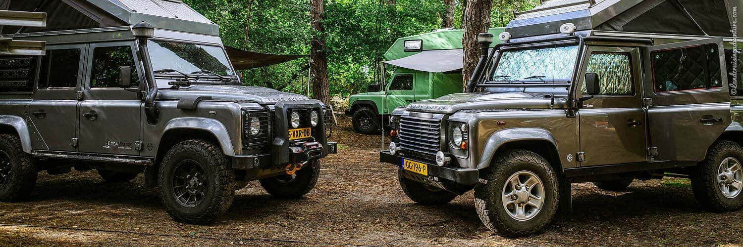 overland vehicle: Land Rovers (©Coen Wubbels)